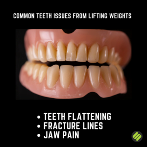 teeth issues from weight lifting